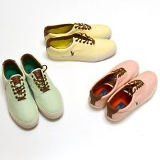 Polo Ralph Lauren Shoes Vaughn Fashion Sneakers Oxford Cloth Mens New In Box