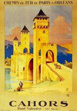 2911.Cahors Pont Valentre POSTER.French Travel Home Room Office art Decoration