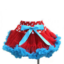 Girls Red Polka Dots Blue Ruffles Pettiskirt Minnie Mouse Thing 1 2 Tutu 1-7Y