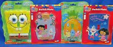"New 5"" to 6"" Glow in the Dark Kid's Switch Wall Plate Spongebob & Dora B337"