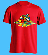 MELTING RUBIX CUBE T-SHIRT FUNNY BIG BANG THEORY SHELDON COOPER T SHIRT S - XXL