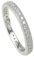 1 CARAT .925 STERLING SILVER ROUND CUT ETERNITY RING BAND SIZE 5 6 7 8 9