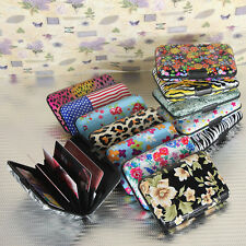Colorful Pocket Waterproof Business ID Credit Card Wallet Holder Metal Box Case