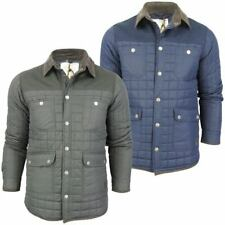 Mens Brave Soul 'Collins' Box Quilted Padded Jacket/ Coat Cord Collar