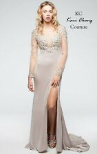 Kari Chang Couture KC14707 Nude Prom Dress Pageant  Mother of Bride PRE-ORDER