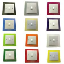 SINGLE SWITCH SURROUND COLOURED ACRYLIC DECORATIVE PERSPEX FINGER PLATE TRIM