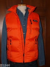 RLX Ralph Lauren Orange Down Vest Hooded  Men's S M L XL XXL NWT