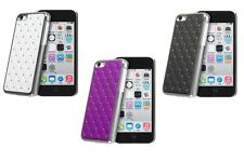 Apple Iphone 5C Crystal Diamond Bling Chrome Case with Screen Protector & Cloth