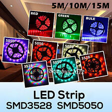 5M/10M/15M 3528/5050 RGB/Single Color SMD Flex LED Strip Light+ 24/44key Remote
