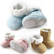New Baby Boys Girls Shoes Toddler Winter Snow Warm Boots 6-24 Months Hot B84U