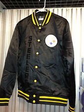 MEN'S NIKE NFL PITTSBURGH STEELERS RETRO BUTTON UP JACKET FOOTBALL vintage afc