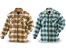 Ten West SHERPA Lined FLANNEL *ZIP SHIRT Jacket BROWN or GREEN Plaid M L XL 2XL