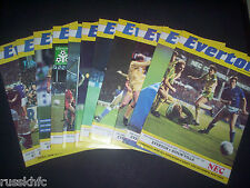 1986/87 - EVERTON HOME PROGRAMMES CHOOSE FROM