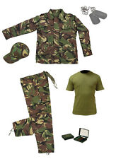 Kids Pack 16 Army Camo Fancy Dress Children's Soldier Outfit (Shirt Pants Jacket