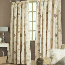 SAGE GREEN Natural CURTAINS Cream Beige Brown LINED Tape Top Lined 46 66 90 108