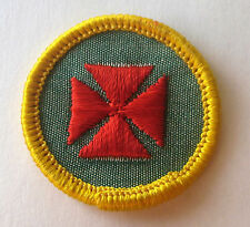Girl Scout 1963-80 Cadette FIRST AID BADGE, CHOOSE Red Maltese Cross Medic Patch