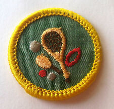 Vintage Girl Scout 1963-80 Cadette SPORTS BADGE, CHOOSE YEAR Tennis Racket Patch