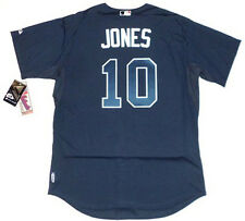 CHIPPER JONES AUTHENTIC ATLANTA BRAVES BLUE MAJESTIC MLB COOL BASE JERSEY