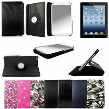 360 Degree Rotating PU Leather Flip Folio Case For Apple Samsung Kindle Nexus