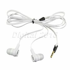 Universal 3.5mm In-Ear Earphone Headphone Earbud Headset Flat Cable
