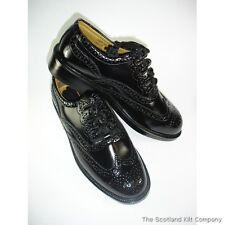New Mens Scottish Ghillie Brogue Kilt Shoes with Leather Upper  Long Tie Laces