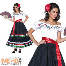 Spanish Senorita Fancy Dress Ladies Wild West National Dress Mexican Costume