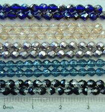 50 Czech Glass 8mm Cobalt Blue Champagne Carmen Copper Black Crystal Beads Upick