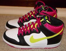 NEW NIKE DUNK HIGH MENS White Black Fireberry Volt sb LTD NR