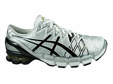 NEW MENS ASICS GEL KINSEI 5 RUNNING SHOES TRAINERS WHITE / BLACK / SILVER