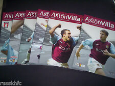 2003/04 ASTON VILLA HOME PROGRAMMES CHOOSE FROM