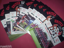 1987/88 MAN UTD HOME PROGRAMMES CHOOSE FROM