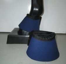 Horse Bell or Overreach Boots Navy Blue & Black AUSTRALIAN MADE Protection