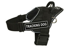 DT FUN Dog Harness in Reflective Trim with Velcro Patches TRACKING DOG