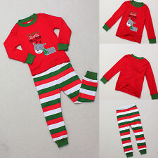 Boy Girl Xmas Gift Little Rudolph Kid Sleepwear Shirt + Pants Pajamas Set 6M-5Y
