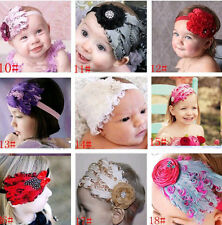 Hot 1pcs x Vintage Feather Headband Infant Head Decoration Christmas Flower Hair