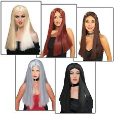 Womens Halloween Costume Wig Adult Witch Vampire 70s Cher Fancy Dress Accessory