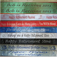 Personalised Retirement Polyester Ribbon Party Banner 1 Metre Long Free Clip Art