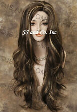 Extra Long and Lots Layers Side skin part top Semi Wavy Wig CHOOSE YOUR COLOR
