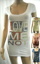 NEW MOSSIMO SUPPLY CO Long Casual Tee Scoop Neck Cap Slv Slim Top COLORS DESIGNS