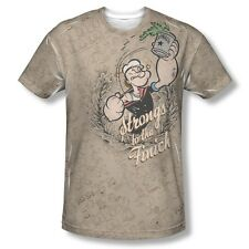 Popeye Strongs To Tha Finich Sublimation Licensed Adult Shirt S-3XL