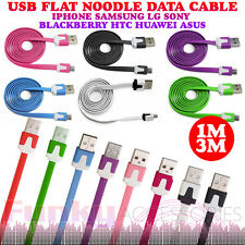 Flat Noodle Ribbon Micro USB Data Sync Cable Lead Charger Tesco HUDL / 2 HUDL2