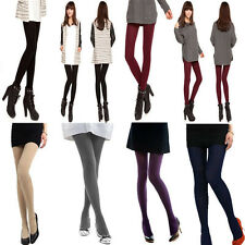 Women Pure Color Warmer Socks Pantyhose Opaque Stockings Tights Leggings
