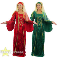 LADIES TUDOR QUEEN DRESS FANCY DRESS COSTUME MEDIEVAL PRINCESS RENAISSANCE