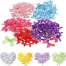 50/100PCS 7mm Satin Ribbon Bow Mini Gift Scrapbooking For DIY Decoration 5 Color