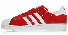 ADIDAS SUPERSTAR II PATENT LEATHER Trainers Red-White hip hop old school new