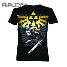 Official T Shirt ZELDA Nintendo Game Black WITH LINK All Sizes