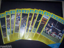 1981/82 EVERTON HOME PROGRAMMES CHOOSE FROM