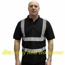 Hi Viz Safety Polo Collar T-Shirt Security Doorman Bouncer Bar Corporate Uniform