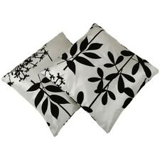 (Free PnP) Faux Silk Flock Cushion Covers (Pack Of 2)