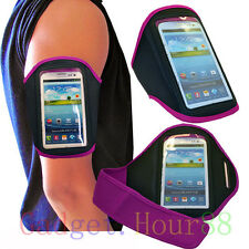 PURPLE Running Sport ARM Armband GYM Skin Case Cover for Nokia NOK Lumia Phones